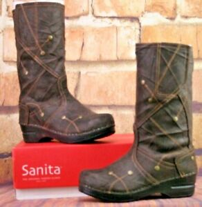 *Sanita Maggie Boot in Antique Brown Oiled Suede size Euro 35/US 4.5 New In Box
