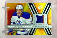2014-15 SPX Leon Draisaitl Rookie RC Inaugural Material Jersey Oilers #RPM-LD