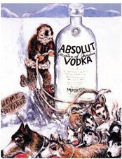"""Absolut 26"""" x 40"""" ALASKA Statehood Lithograph Printer's Proof Private Collection"""