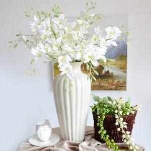 1pc Artificial Orchid Flower Silk Fake Flower Bouquet Wedding Party Home Decor