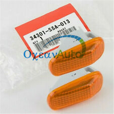A Pair Side Marker Lamp Lens For Honda ACURA INTEGRA Civic 34301-S5A-013 NEW