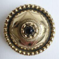 Bouton ancien - Laiton doré - 28 mm - Pigeon eye gilt brass button