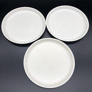 "Lot of 3 Le Menu Plates High Heat Microwave Reusable Camper Almond 7 3/4"""