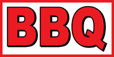 2'x4' BBQ BANNER SIGN barbque bbq smoker ribs chicken cart signs bar-b-que
