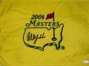 Phil Mickelson signed 2006 Masters Flag JSA Z91076 (3)