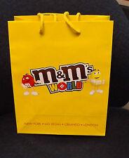 M&M's World N.Y., Las Vegas, Orlando, London 832658-9 Paper Tote 8X10x4 inch