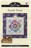 Just Nan SNOW FACES JN156 Whimzi Seasonals Chart with Instructions Christmas