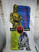 Vintage 1996 Star Wars Beach Towel With R2D2 And C3PO