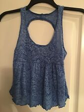 Abercrombie Kids Girls Blue Unique Open Back Sleeveless Tank Top Size Medium