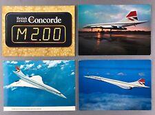 BRITISH AIRWAYS CONCORDE AIRLINE ISSUE VINTAGE POSTCARDS BA SUPERSONIC 1970'S