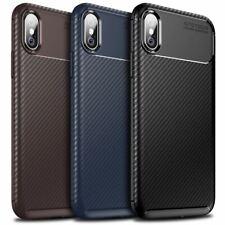 Funda Para iPhone Fibra Carbono Funda Suave TPU Silicona 11 X XR Max 8 7 6 Plus