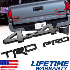 FIT FOR Toyota Tacoma TRD Pro and 4x4 Black Painted Emblem Set