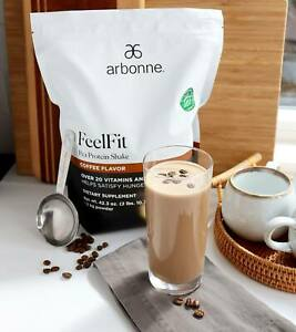 New Arbonne FeelFit Pea Protein Shake Coffee - Sold Out exp. 10/2021