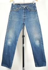 """Vintage LEVI'S 501 Blue Denim Jeans 32X32 (30""""X31"""" Actual) Made in USA"""