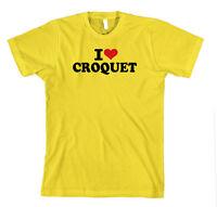 I LOVE CROQUET SPORT Unisex Adult T-Shirt Tee Top