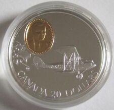 Kanada 20 Dollars 1992 Flugzeuge de Havilland Gipsy Moth Silber