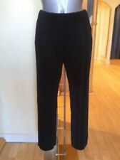 Black Polyester Loose Fit Trousers for Women