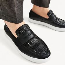 ZARA studded leather slip on shoes UK9/43/US10