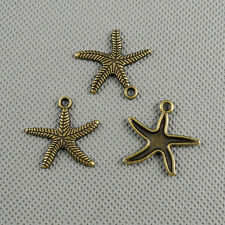 3x Jewelry Making Pendant Vintage Retro Findings Charms Jewellery A2615 Starfish