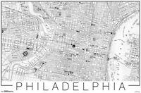 PHILADELPHIA - MAP POSTER - 22x34 - PHILLY 17675