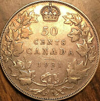 1931 CANADA SILVER 50 CENTS COIN