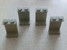 Lego 2362a# 4x Paneele 1x2x3 grau alt hellgrau 10030 7191