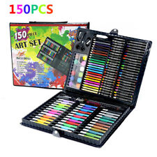 150PCS Set Kids Drawing Set Painting Art Oil Watercolor Pen Crayon Children Gift