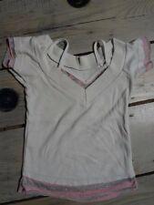 T-shirt manches courtes blanc et rose Taille 4 ans 100% coton