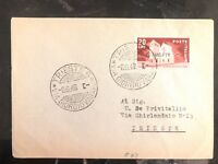 1949 Trieste Italy Cover Domestic Used  AMG FTT Stamps Overprints