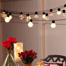 6M Lichterkette 20 Glühbirnen Außen Garten String Licht Birnen für Party Deko DE