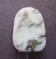 7.30 ct Natural Gold in Quartz Cabochon Gemstone, Mined, Not Man Made # AY 038