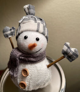 *NEW* Gray Snowman Magnetic Candle Topper Bath & Body Works SHIPS FREE!