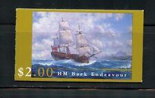 W409 Australia 1995 ships Hm Bark Endeavor Complete Booklet Mnh