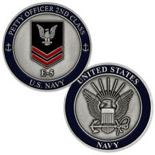 New U.S. Navy Petty Officer 2nd Class E-5 Challenge Coin.