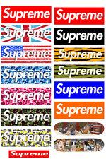 A5 Size Supreme Logo Skateboard Luggage Laptop Bike Phone Vinyl Stickers S0521