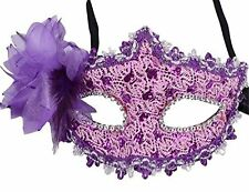 Halloween Venetian Masquerade Lace Diamond Flower Mask for Party,Prom,Mardi Gras