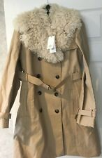 fb7a8b8980be  650 Tory Burch Delphine women s trench coat new khaki tan color size 6 NWT