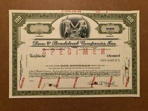 DUN & BRADSTREET COMPANIES SPECIMEN STOCK FOREIGN SHARE CERTIFICATE 1973 SCARCE