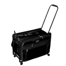 Tutto Black 20 Inch Sewing Embroidery Machine Trolley Case On Wheels New
