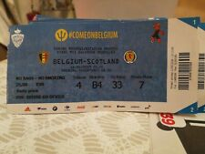 Ticket : Belgique - Écosse Scotland 11-06-2019 Qualifications Euro 2020