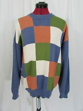 Pringle Crew Neck Check Long Sleeve Sweater Size L