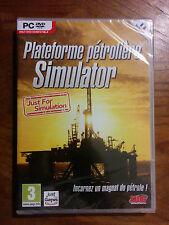 Plateforme Pétrolière Simulator Jeu PC ** NEUF **