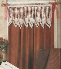 """New listing Crochet Pattern Only - Lacy Hearts Valance - 15"""" x 38"""" - Size 10 cotton thread"""
