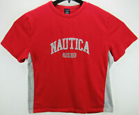Vintage Nautica Jeans Co. Men's Size XL T Shirt Red Embroidered Spell Out