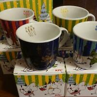 Moomin Mug Cup KFC Sold at ONLY  Japan Limited Edition Complete Set of 4 RARE