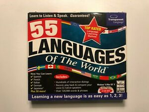 55 Languages of the World Win & Mac CD-ROM Software