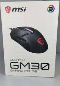 MSI CLUTCH GM30 RGB Optical Wired Gaming Mouse 6200 DPI Optical Sensor, Black