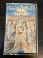Iron Maiden Powerslave CASSETTE Tape 1984 Capitol 4XJ 512321 Bruce Dickinson OOP