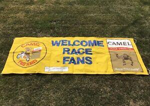Vintage RARE 1975 LARGE Camel Pro Series WELCOME RACE FANS Banner Flag