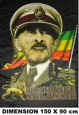 DRAPEAU HAILE SELASSIE Rasta Reggae Bob Marley Jamaïque flag no poster cd dvd ..